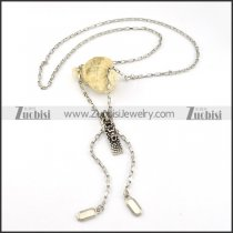 Zipper Chain in Stainless Steel with Dragon Sliding Tab -n000232