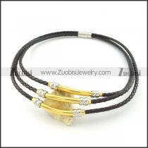 leather necklace n000452