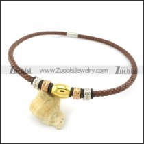 leather necklace n000435