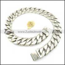 heavy weight men stainless steel necklace with length of 36 inch n000454-2
