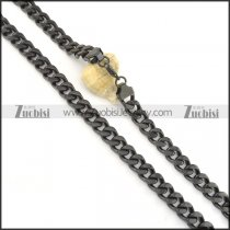 600*11mm black plating chain necklace n000512