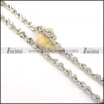 10mm unique silver stainless stee S shaped necklace chain n000523