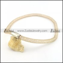 special rose gold stainless steel chain necklace n000499