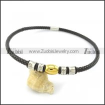 leather necklace n000438