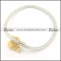 silver special stainless steel chain necklace n000497