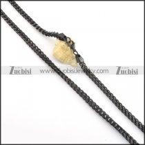 5.5mm wide black square chain necklace n000507