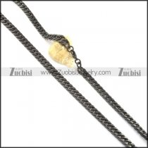8mm black cover stainless steel chain necklace n000514