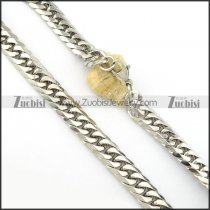 16mm wide high quality pretty 316L stainless steel stamping necklaces -n000407