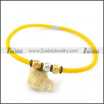 leather necklace n000445