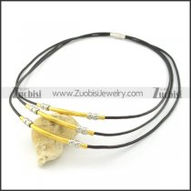 leather necklace n000449