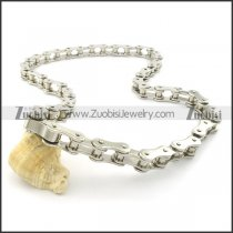 unique 600mm biker chain necklace with special clasp n000455