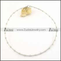 silver stainless steel bamboo chain necklace n000495