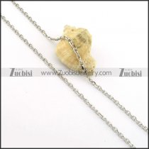 Good Welcome Oxidation-resisting Steel small chain necklaces for ladies -n000372