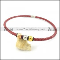 leather necklace n000444