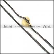 610 x 4.5mm black plated square chain necklalce n000506
