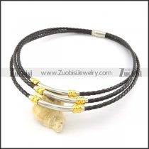 leather necklace n000451
