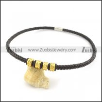 leather necklace n000446
