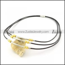leather necklace n000448