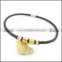 leather necklace n000440