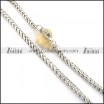 8mm round snake stainless steel necklace chain n000522