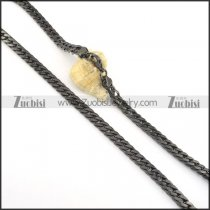 7.5mm black plating chain necklace n000513