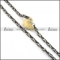 570*7mm black and silver necklace chain n000516