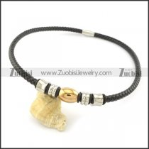 leather necklace n000436