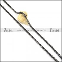 4mm black plated chain necklace n000515