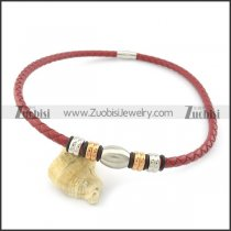 leather necklace n000432