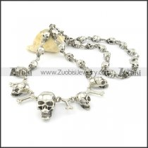 30 skull heads necklace in length of 59cm n000505