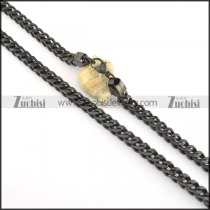 8mm wide black square chain necklace n000508