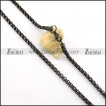 Clean-cut Stainless Steel stamping necklaces -n000404