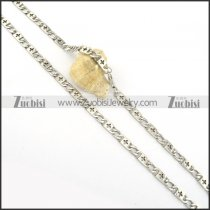 55cm long stainless steel cross necklace chain n000548