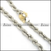 600mm special silver stainless steel curb chain necklace n000549