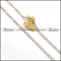 6MM Stainless Steel Figaro Chains n000966