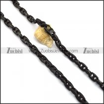10mm black plated necklace chain n000739