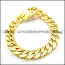 24mm Wide Gold-plating Heavy Weight Casting Necklace for Men with Big Buckle n000893