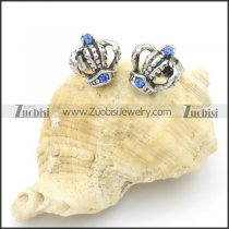 Stainless Steel Casting Crown Earrings -e000124
