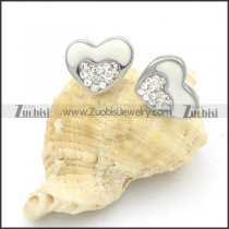 Stainless Steel Heart Earrings -e000150