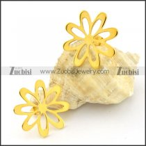 high quality 316L Steel flower Cutting Earrings for Women - e000357