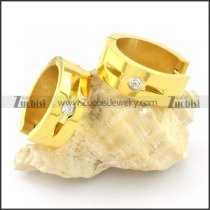 remarkable gold plated nonrust steel Cutting Earrings for Women - e000349