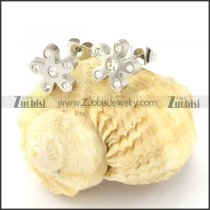 remarkable Steel flower Cutting Earrings for Women - e000355