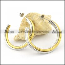 wonderful 2 tones Stainless Steel lines Earrings for Women - e000351
