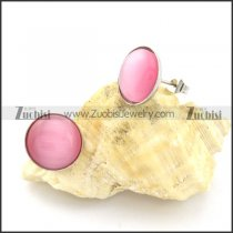 beautiful 316L Steel Cat Eye Stone Earring -e000528