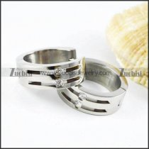 Silver Stainless Steel Earring - e000002