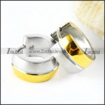 Gold and Silver Polishing Stainless Steel Earring - e000026