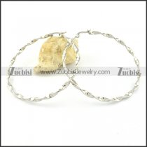 Special Silver Steel Line Earrings for Women - e000352