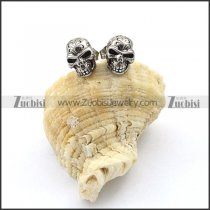 Stainless Steel Skull Earrings - e000075