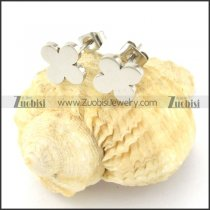 attractive Stainless Steel four-leaf clover Cutting Earrings for Women - e000354
