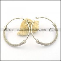 clip on earrings in stainless steel e000868
